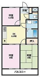 神奈川県横浜市鶴見区下末吉6丁目の賃貸マンションの間取り