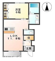 伊賀の郷 弐番館[1階]の間取り