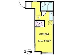 ハイツリベルテ[2階]の間取り