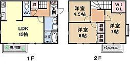 [テラスハウス] 京都府京都市山科区西野左義長町 の賃貸【/】の間取り