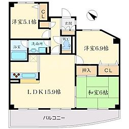 東豊中アーバンコンフォート[2階]の間取り