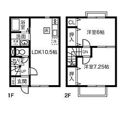 ブルー富士[2階]の間取り