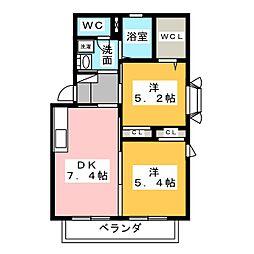 ローレル東山元町[2階]の間取り