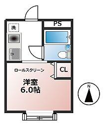 パークハイツC棟[1階]の間取り