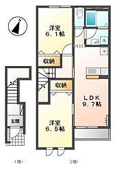 モンベル[2階]の間取り
