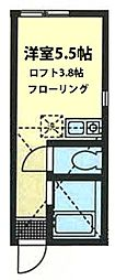 神奈川県川崎市幸区小向西町3の賃貸アパートの間取り