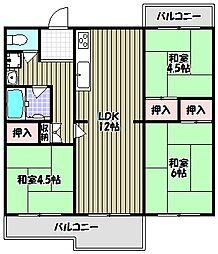城山台3丁住宅10棟[5階]の間取り