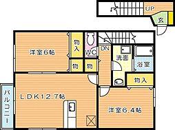 エバーステージ A[2階]の間取り