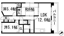 ルミエール多田[1階]の間取り