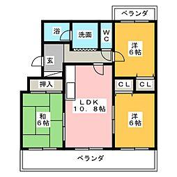 ロワイヤルS[3階]の間取り