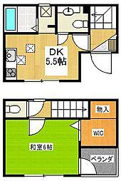 [一戸建] 埼玉県さいたま市中央区下落合4丁目 の賃貸【/】の間取り