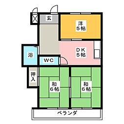 リアナ稲沢アパートメント[4階]の間取り
