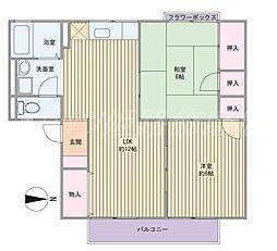 ティファニー21A棟[1階]の間取り