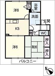 メゾン八事[1階]の間取り