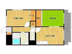 ホワイトボックスパート2[4階]の間取り
