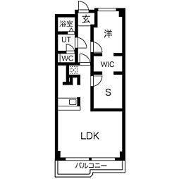 里水マンションA[5階]の間取り