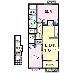 ケルンVI[2階]の間取り