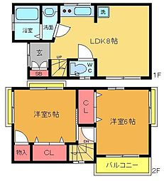 [一戸建] 東京都足立区梅田7丁目 の賃貸【/】の間取り