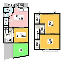 [一戸建] 愛知県名古屋市中村区松原町5丁目 の賃貸【/】の間取り