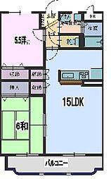 広島県東広島市西条町助実の賃貸マンションの間取り