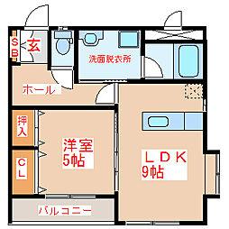 グリーンマンション本村[1階]の間取り