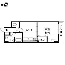 大阪モノレール 沢良宜駅 徒歩13分の賃貸マンション 3階1DKの間取り