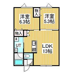 クローバーハウスNO.5[2階]の間取り