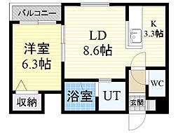 北海道札幌市中央区南5条西12丁目の賃貸マンションの間取り