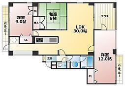 サンコート阪急六甲[1階]の間取り