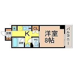 愛知県名古屋市港区入船2の賃貸マンションの間取り
