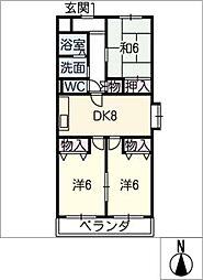 グランドゥール[2階]の間取り