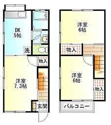 [テラスハウス] 神奈川県小田原市中曽根 の賃貸【/】の間取り