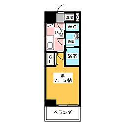 REGALO桜本町[4階]の間取り