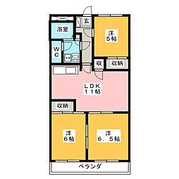 Mアリージェンス[2階]の間取り