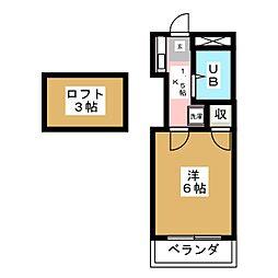XIIエクシー八幡[2階]の間取り