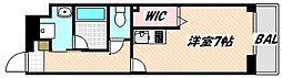 京成本線 海神駅 徒歩7分の賃貸マンション 3階1Kの間取り