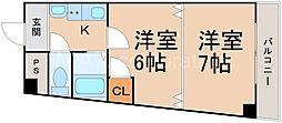 メゾネット・フジ[2階]の間取り