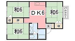 NKコーポ[201号室]の間取り