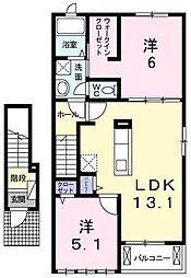 グラン・ソレイユIIA[2階]の間取り