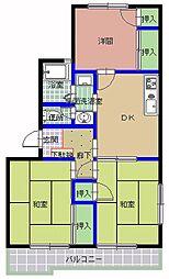 吉沢マンション[205号室]の間取り