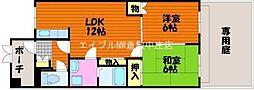 岡山県倉敷市平田丁目なしの賃貸マンションの間取り