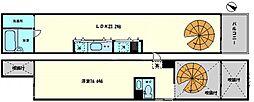 匠空KYOMACHIBORI 1階1LDKの間取り