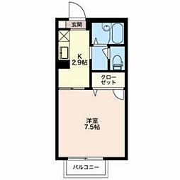 ディアコートさくら[2階]の間取り