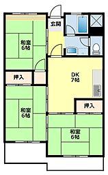愛知県豊田市栄町5丁目の賃貸マンションの間取り