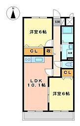 パ−ク高島N[1階]の間取り