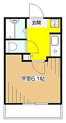 東京都東村山市野口町1丁目の賃貸アパートの間取り