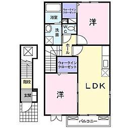 ラ フォンテーヌB[2階]の間取り