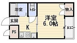 大阪府守口市橋波東之町1の賃貸マンションの間取り