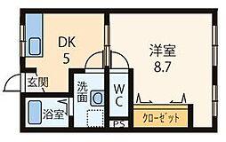 橋本マンション[201号室]の間取り