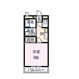シノハラマンション[202号室]の間取り
